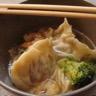 Soupe aux nouilles et raviolis