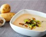 Soupe aux pommes de terre poireaux et champignons