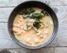 Soupe chinoise aux crevettes poulet lait de coco légumes