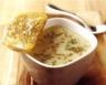 Soupe crémeuse au munster et pommes de terre à la bière