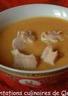 Soupe de courgettes et patates douces thaï au saumon acidulé