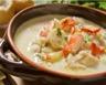 Soupe de homard St Jacques et légumes