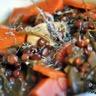 Soupe de lentilles carottes et feuilles de navet fenouil et céleri