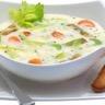 Soupe de poireaux aux pommes de terre thym et Philadelphia