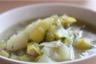 Soupe de poireaux champignons et pommes de terre