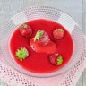 Soupe glacée de fraise à la fraise