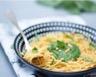 Spaghetti à la crème d'épinards basilic et pignons de pin