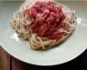 Spaghetti au poulet et à la sauce tomate