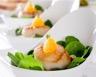 St Jacques poêlées salade de pousses d'épinards