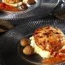 Steak de Poulet gratiné et sa polenta crémeuse à la châtaigne