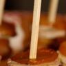 Sucettes de foie gras mangues et pain d'épices