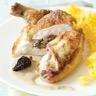 Suprêmes de poulet aux champignons et sauce aux morilles