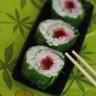 Sushis aux épinards au saumon fumé et à la betterave