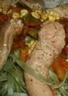 Tagliatelle et aiguillettes de canard à la thaï