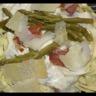 Tagliatelle sauce aux asperges vertes et jambon sec