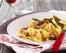Tagliatelles sauce aux asperges vertes et jambon sec