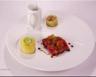 Tagliatta de côte de bœuf pommes de terre et sauce bordelaise