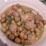 Tajine d'olives et sauce blanche