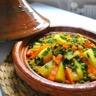 Tajine de carottes petits pois et pommes de terre