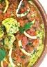 Tajine de lotte aux poivrons et tomates