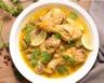 Tajine de poulet aux citrons confits gingembre et coriandre