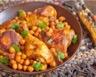 Tajine de poulet aux pois chiches et aux épices