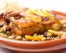 Tajine de poulet aux pommes de terre et olives vertes