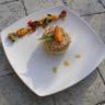 Tajine destructuré aux abricots et au poulet