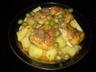 Tajine marocain de poulet aux pommes de terres et olives