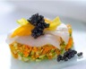 Tartare de courgettes et leur fleur à l'esturgeon et Caviar