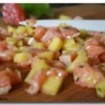 Tartare de saumon à la mangue rapide