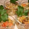 Tartare de saumon de thon et de coquilles saint-jaques safrané