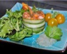 Tartare de saumon frais aux asperges gel de citron vert