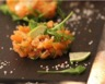 Tartare de saumon fumé au citron vert