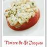 Tartare de St Jacques aux tomates confites