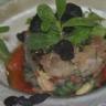 Tartare de thon rouge aux herbes avocat oignons nouveaux & tomates de Marmande confites