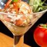 Tartare de tomate de Marmande au magret de canard du Sud-Ouest fumé