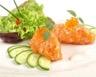 Tartare de tomates saumon fumé et ciboulette