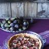 Tarte à la cannelle aux figues et aux raisins