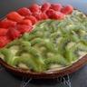 Tarte à la crème légère fraises et kiwis