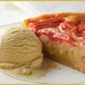 Tarte à la frangipane rhubarbe et orange vanille