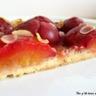 Tarte à la prune et à la confiture de rhubarbe