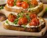 Tarte à la ricotta jambon tomates et basilic