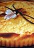 Tarte à la vanille coulis framboise-poivron rouge