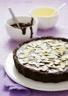 Tarte au chocolat noir et aux amandes effilées