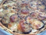Tarte aubergines saumon chèvre