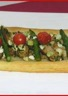 Tarte aux cèpes asperges vertes tomates cerises er feta