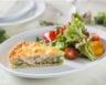 Tarte aux courgettes saumon fumé et crème fraîche