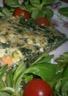 Tarte aux épinards et saumon fumé