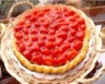 Tarte aux fraises au coulis de fraise